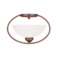 Livex Lighting Somerset 1 Light Ceiling Mount in Vintage Bronze 4235-70