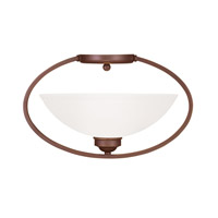 Livex Lighting Somerset 1 Light Ceiling Mount in Vintage Bronze 4236-70