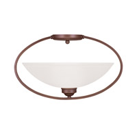 Livex Lighting Somerset 1 Light Ceiling Mount in Vintage Bronze 4237-70