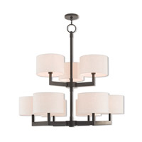Livex 42429-07 Hayworth 9 Light 42 inch Bronze Foyer Chandelier Ceiling Light