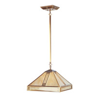 Livex Lighting Mission Tiffany 1 Light Chandelier in Flemish Brass 4244-22