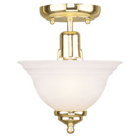 Livex Lighting North Port 1 Light Ceiling Mount in Polished Brass 4250-02