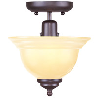 North Port 1 Light 8 inch Olde Bronze Ceiling Mount Ceiling Light in Iced Champagne