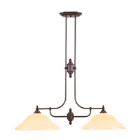 North Port 2 Light 45 inch Olde Bronze Island Light Ceiling Light in Iced Champagne