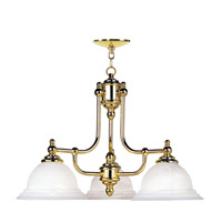 Livex Lighting North Port 3 Light Chandelier in Polished Brass 4253-02
