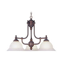 Livex Lighting North Port 3 Light Chandelier in Weathered Brick 4253-18