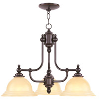 Livex 4253-67 North Port 3 Light 24 inch Olde Bronze Chandelier Ceiling Light in Iced Champagne
