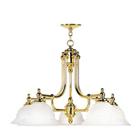 Livex Lighting North Port 5 Light Chandelier in Polished Brass 4255-02