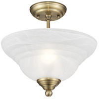 Livex 4259-01 North Port 2 Light 13 inch Antique Brass Ceiling Mount Ceiling Light alternative photo thumbnail