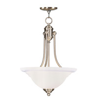 Livex Lighting North Port 3 Light Inverted Pendant in Antique Brass 4264-01
