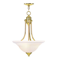Livex Lighting North Port 3 Light Inverted Pendant in Polished Brass 4264-02