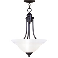 Livex Lighting North Port 3 Light Inverted Pendant in Black 4264-04