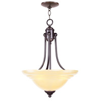 North Port 3 Light 16 inch Olde Bronze Inverted Pendant Ceiling Light in Iced Champagne