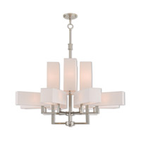 Livex 42679-91 Rubix 12 Light 44 inch Brushed Nickel Foyer Chandelier Ceiling Light