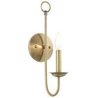 Livex 42681-01 Estate 1 Light 5 inch Antique Brass Sconce Wall Light