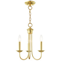 Livex Polished Brass Steel Estate Chandeliers