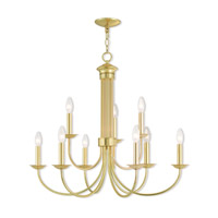 Polished Brass Steel Estate Chandeliers