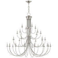 Livex Brushed Nickel Steel Estate Chandeliers