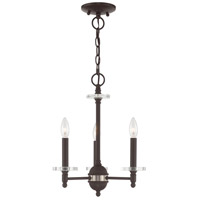 Livex 42703-07 Bancroft 3 Light 14 inch Bronze Mini Chandelier Ceiling Light