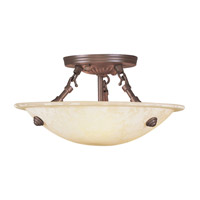 Manchester 3 Light 12 inch Imperial Bronze Ceiling Mount Ceiling Light in Vintage Scavo