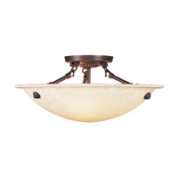 Livex Lighting Manchester 3 Light Ceiling Mount in Imperial Bronze 4273-58