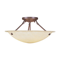 Livex Lighting Manchester 3 Light Ceiling Mount in Imperial Bronze 4274-58