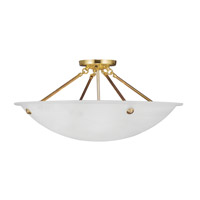 Livex Lighting Home Basics 4 Light Ceiling Mount in Polished Brass 4275-02