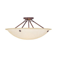 Home Basics 4 Light 24 inch Imperial Bronze Ceiling Mount Ceiling Light in Vintage Scavo