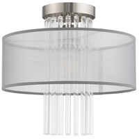 Livex 42802-91 Alexis 1 Light 13 inch Brushed Nickel Flush Mount Ceiling Light alternative photo thumbnail