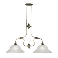 Livex Lighting Countryside 2 Light Island Light in Antique Brass 4282-01