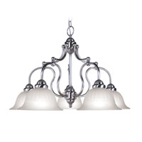 Livex Lighting Countryside 5 Light Chandelier in Brushed Nickel 4285-91