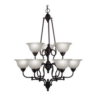 Livex Lighting Countryside 9 Light Chandelier in Bronze 4289-07