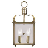 Livex 4311-01 Garfield 2 Light 7 inch Antique Brass ADA Wall Sconce Wall Light