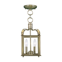 Livex Lighting Garfield 2 Light Pendant/Ceiling Mount in Antique Brass 4312-01