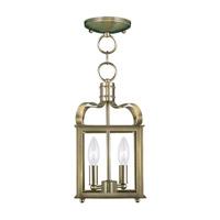 Livex 4312-01 Garfield 2 Light 7 inch Antique Brass Pendant/Ceiling Mount Ceiling Light