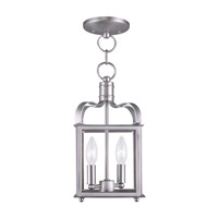 Livex Lighting Garfield 2 Light Pendant/Ceiling Mount in Brushed Nickel 4312-91