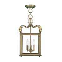 Livex 4313-01 Garfield 3 Light 10 inch Antique Brass Pendant/Ceiling Mount Ceiling Light