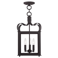 Livex Lighting Garfield 3 Light Pendant/Ceiling Mount in Bronze 4313-07