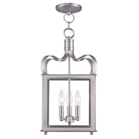 Livex 4313-91 Garfield 3 Light 10 inch Brushed Nickel Pendant/Ceiling Mount Ceiling Light