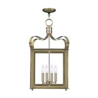 Garfield 4 Light 14 inch Antique Brass Foyer Pendant Ceiling Light