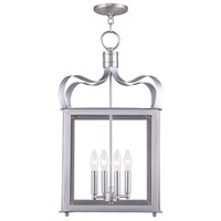 Livex 4314-91 Garfield 4 Light 14 inch Brushed Nickel Foyer Pendant Ceiling Light