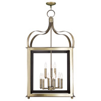 Livex Garfield 9 Light Lantern in Antique Brass 43180-01