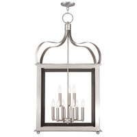 Livex 43180-91 Garfield 9 Light 22 inch Brushed Nickel Foyer Lantern Ceiling Light