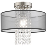 Livex 43202-91 Bella Vista 1 Light 13 inch Brushed Nickel Flush Mount Ceiling Light