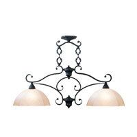 Livex Lighting Homestead 2 Light Island Light in Distressed Iron 4322-54