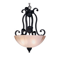 Livex Lighting Homestead 3 Light Inverted Pendant in Distressed Iron 4324-54