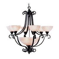 Livex Lighting Homestead 7 Light Chandelier in Distressed Iron 4336-54