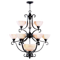 Livex Lighting Homestead 10 Light Chandelier in Distressed Iron 4338-54