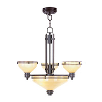 Livex Lighting Matrix 6 Light Chandelier in Olde Bronze 4353-67