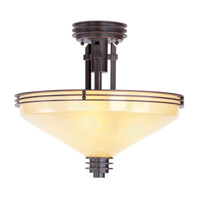 Livex Lighting Matrix 3 Light Semi-Flush Mount in Olde Bronze 4359-67